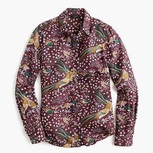 J.Crew Collection Drakes Bird of Paradise Top sz00